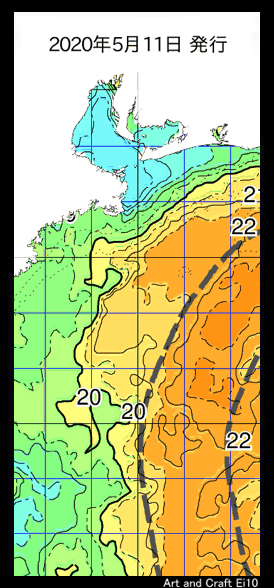 伊勢湾内の水温は、まだ低めですね・・・